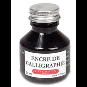 Tinta de Caligrafía Negra Herbin. 50 ml.