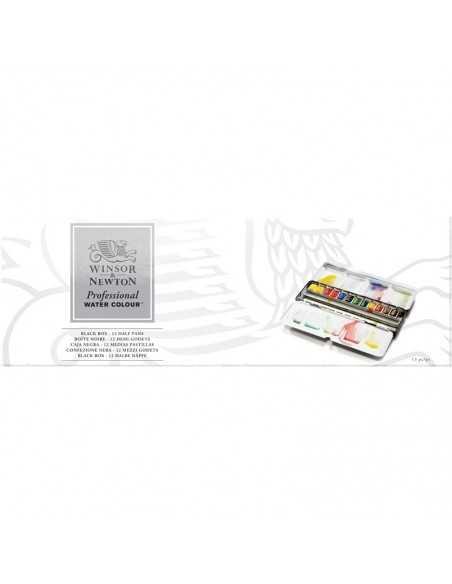 Caja de Acuarelas Winsor& Newton Profecional - 12 medias pastillas