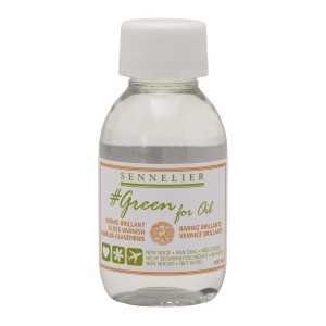 Barniz Brillante para Oleo Ecologico Sennelier Green For Oil 100ml.