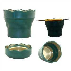 Recipiente Click&Go Faber Castell Verdel.