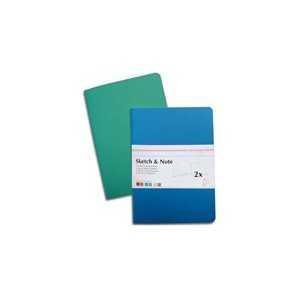 Set con Dos Libretas Hahnemuhle A6 125gr. 40Hojas Azul-Verde