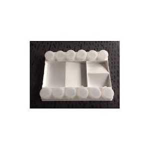 Paleta de Plástico 12 Godets 21x15,5x3cm.