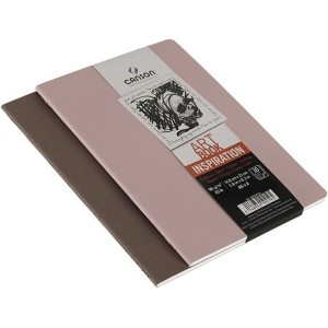 Pack Cuadernos (x2) 14,8x21 30H Canson Inspiration Fino 96g Sepia/Rosa