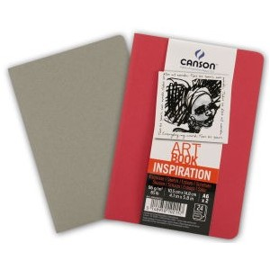 Pack Cuadernos (x2) 14,8x21 30H Canson Inspiration Fino 96g Rojo/Gris