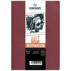 Pack Cuadernos (x2) 14,8x21 30H Canson Inspiration Fino 96g Tierra/Rojo