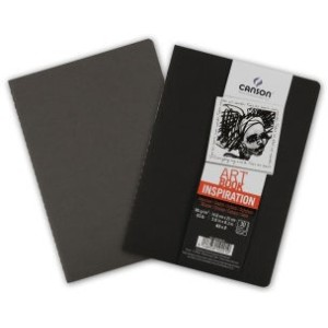 Pack Cuadernos (x2) 14,8x21 30H Canson Inspiration Fino 96g Negro/Gris