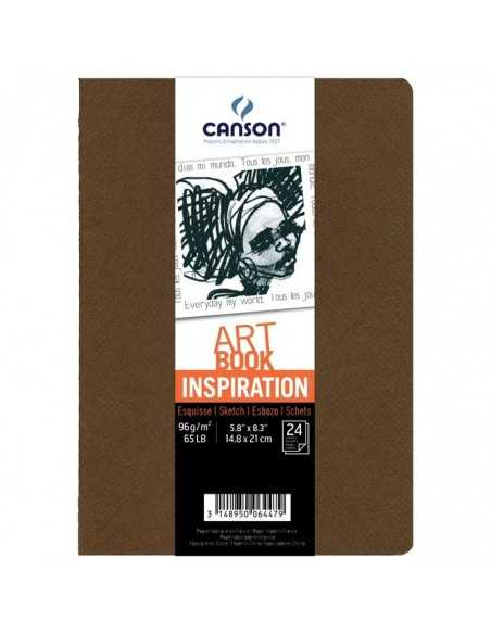 Pack Cuadernos (x2) 14,8x21 30H Canson Inspiration Fino 96g Marron/Canha