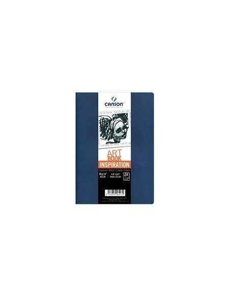 Pack Cuadernos (x2) 14,8x21 30H Canson Inspiration Fino 96g Indigo/Lavan