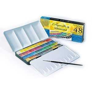 Caja de Metal 48 1/2 Pastillas Acuarela extrafina