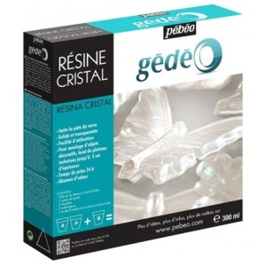 Kit Resina Cristal 300ml. Gedeo Pebeo