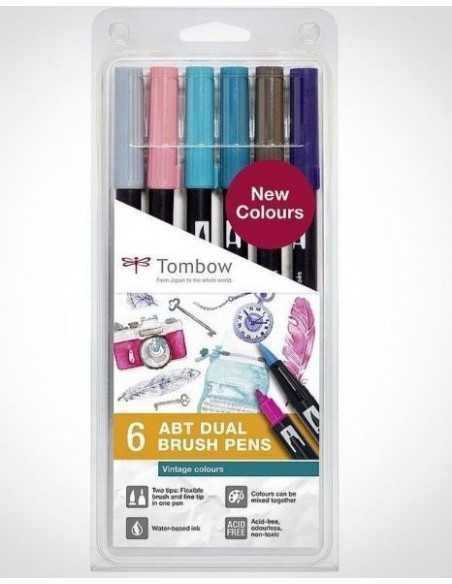 Set Rotuladores Tombow Doble Punta colores Vintage
