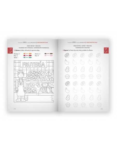 Cuaderno Rubio Estimulacion Destreza Motora Grafomotricidad Baja