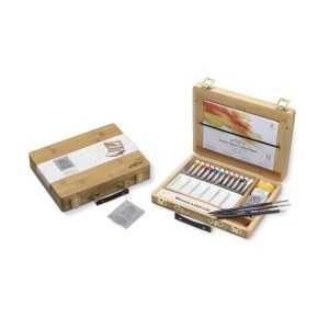 Caja de Bambu Surtido de Acuarela Winsor&Newton 12 tubos de 5ml.
