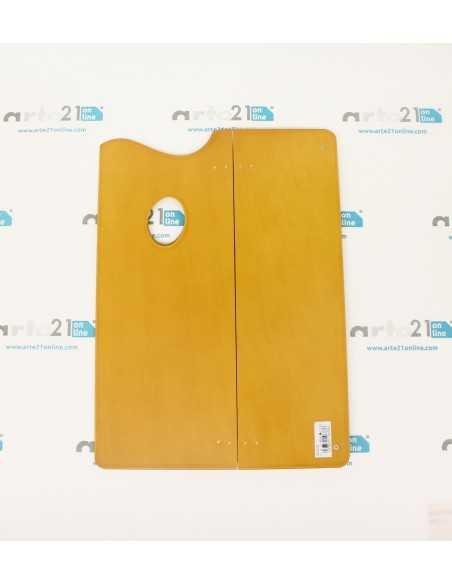 Paleta de Madera Pintor Plegable 35,5x25,5cm. (Plegada 35,5x16,5)