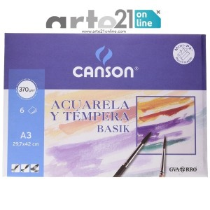 Pack 6 Hojas A3 370gr canson