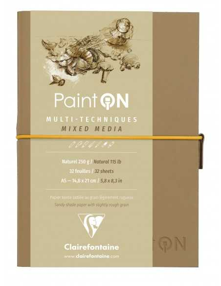 Bloc Cosido PaintOn 250gr 64 paginas A5 Color Nature con Goma