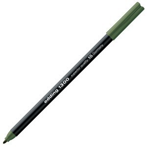 Rotulador edding 1300 Verde Oliva 15, punta fina 2mm