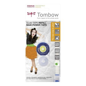 Cinta Adhesiva Permanente Recargable TOMBOW MAXIPOWER 8,4mm.x16m.