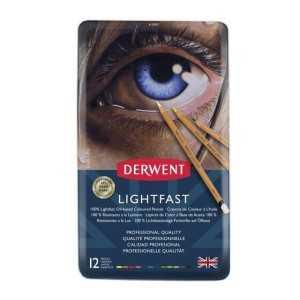 CAJA METALICA 12 Lapices Derwent Lightfast