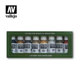 Sets Model Color Vallejo. Colores Metálicos. 8 colores