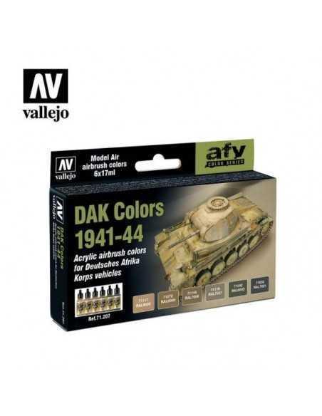 Sets Model Air Vallejo. Colores Carros DAK. 6 colores