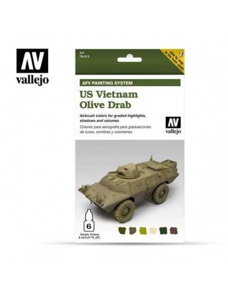 Sets Model Air Vallejo. Tanqueta USA Vietnam. 6 colores. 8ml.