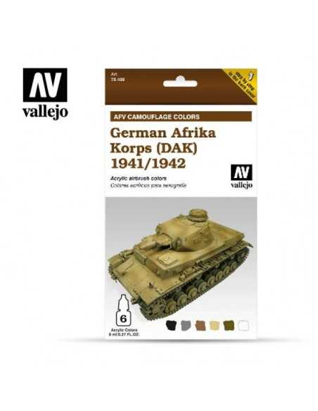 Sets Model Air Vallejo. Colores Afrika Korps 1942-42 . 6 colores