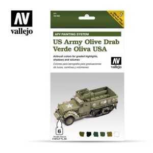 Sets Model Air Vallejo. Colores Verde Oliva USA . 6 colores