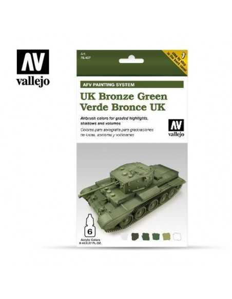 Sets Model Air Vallejo. Color Verde Bronce R. Unido . 6 colores