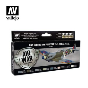 Sets Model Air Vallejo. Colores RAF . 1941 - 45.  8 colores