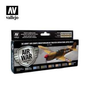 Sets Model Air Vallejo. Colores US Army Mediterraneo . 8 colores