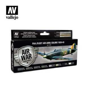 Sets Model Air Vallejo. Colores FAA . 8 colores