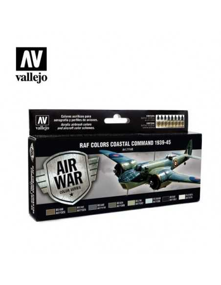 Sets Model Air Vallejo. Colores RAF Comando Costero. 1939-45. 8 colores