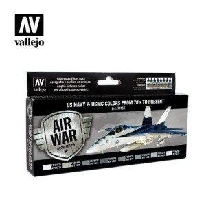 Sets Model Air Vallejo. Colores US Navy . 1970 - 2019. 8 colores