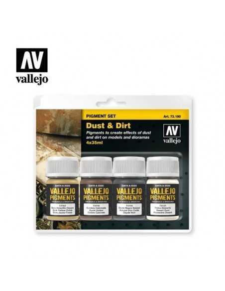 Sets Pigmento Vallejo. Polvo y Suciedad. 4 colores. 35 ml.