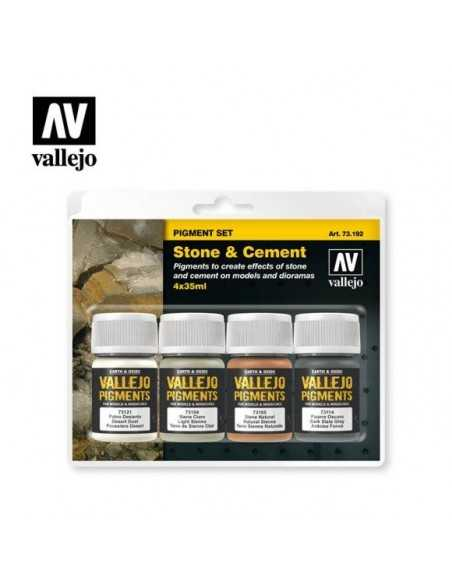Sets Pigmento Vallejo. Piedra y Cemento. 4 colores. 35 ml.