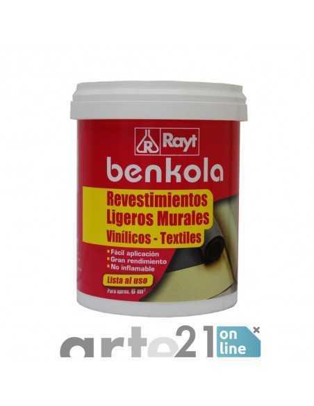 Cola BENKOLA. Revestimientos ligeros y murales.  Rayt. 1kg.