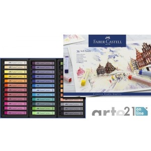 Caja FABER CASTELL Pastel Blando. 36 Colores Tizas.