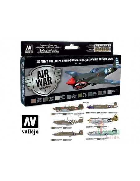 Sets Model Air Vallejo. Luftwaffe marina y color tropical . 8 colores