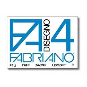 Bloc con 4 Esquinas Fabriano 4L 20 Hojas Liso 24x33cm. 220gsm