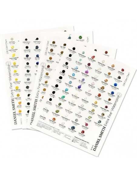 Carta de Colores DOT CARD Acuarela Extrafina Daniel Smith 238 Colores