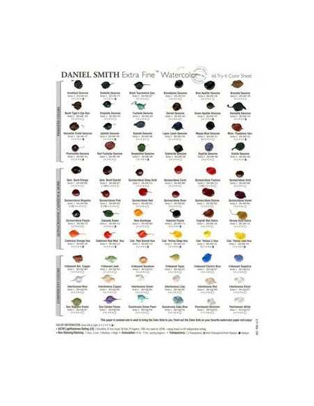 Carta de Colores DOT CARD Acuarela Extrafina Daniel Smith 238 Colores