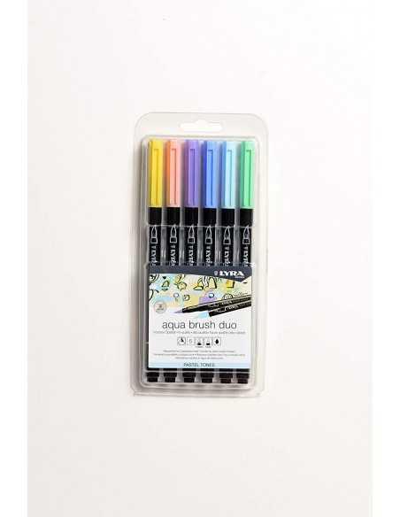 Set de 6 Rotuladores LYRA Aqua Brush Duo Colores Pasteles