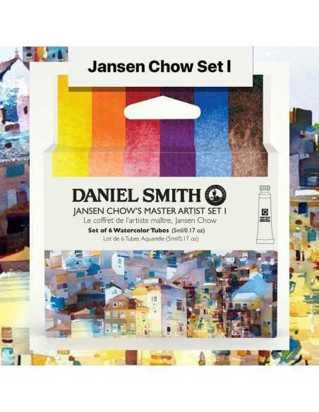 Set DANIEL SMITH. Jansen Chow set 1. 6 colores. 5 ml.