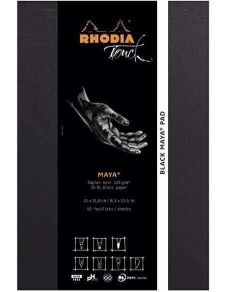 Cuaderno Rhodia Maya BLACK 120gr Liso. A4+ 50Hojas