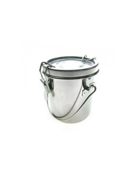 Lavapinceles de acero inox. con tapa hermético 8,5cm.