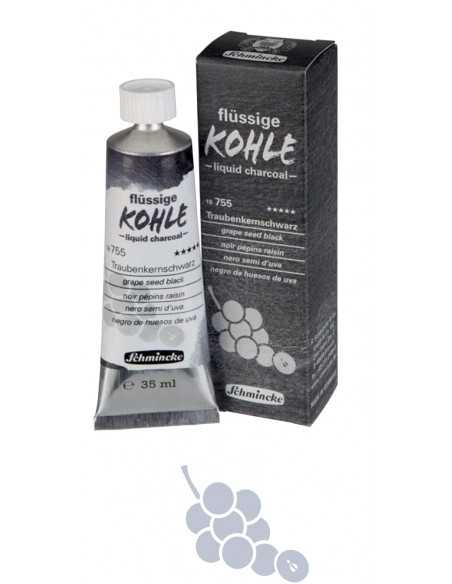 Carboncillo Liquido Schmincke 35ml. Hueso de Uva