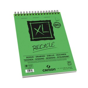 Album Espiral Microperforado 21X29,7cm. 50H Canson XL Recycled Fino 160G