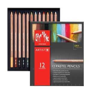 Caja Surtida 12 Colores Lápices Pastel Caran d Ache