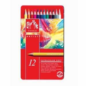 Caja Metálica 12 Lápices Supracolor Caran d Ache